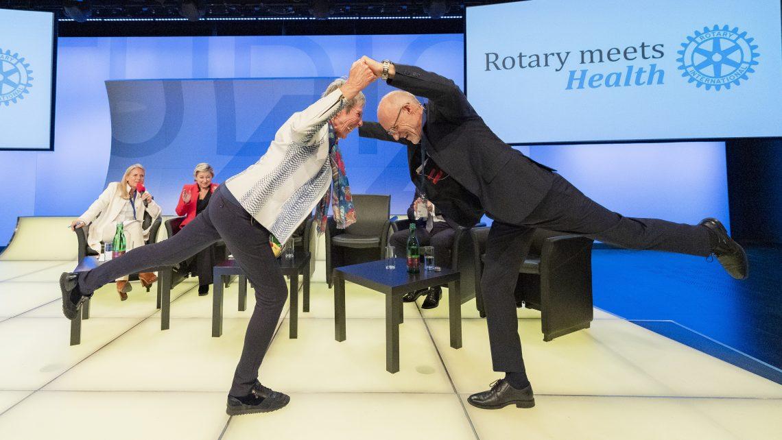 Pressebild Rotary meets Health Trixi Schuba und Toni Innauer © Jeff Mangione